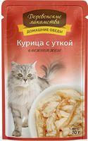 """Пресервы для кошек """"Домашние обеды"""" (70 г; курица с уткой)"""