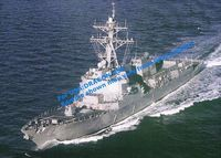 "Эскадренный миноносец ""U.S.S. Mustin DDG-89, Arleigh Burke Class Flight IIA Destroyer"" (масштаб: 1/700)"