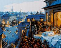 """Картина по номерам """"Ужин в Париже"""" (400x500 мм; арт. MG1107)"""
