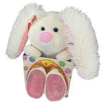 """Мягкая игрушка """"Подарочный Кролик"""" (16 см; белая)"""