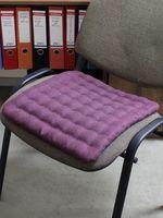 "Подушка на стул ""Ecology"" (40х40 см; бордовая)"
