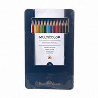 """Набор карандашей цветных """"MultiColor"""" (12 цветов; металлическая коробка)"""