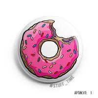 """Значок большой """"Симпсоны. Пончик"""" (арт. 001)"""