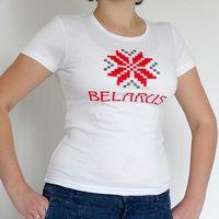"""Футболка женская """"Belarus"""" (L; белая)"""
