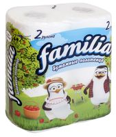 Бумажные полотенца (2 рулона; белые)