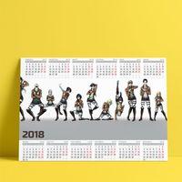 """Календарь настенный """"Атака титанов"""" (2018; арт. 21)"""