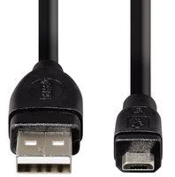 Кабель Hama H-54589 USB 2.0 A-micro B (m-m) 3.0 м экранированный 1зв черный (54589)