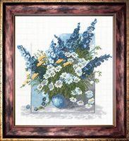 """Вышивка крестом """"Синие цветы"""""""