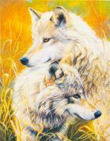 """Алмазная вышивка-мозаика """"Волчья нежность"""""""