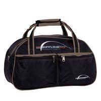 Спортивная сумка П05 (чёрно-бежевая)