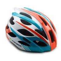 """Шлем велосипедный """"WT-016"""" (красный/бирюзовый/белый)"""