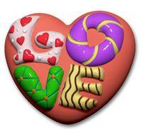 """Форма для изготовления мыла """"Сердце Love"""""""