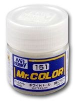 Краска Mr. Color (white pearl, C151)