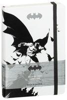 """Записная книжка Молескин """"Бэтмен"""" в линейку (большая; твердая белая обложка)"""