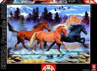"""Пазл """"Бегущие лошади"""" (500 элементов)"""