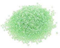 Бисер с цветным центром №2207 (прозрачный/зеленый, глянцевый; 11/0)