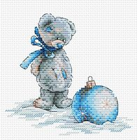 """Вышивка крестом """"Новогодний шар"""" (150х150 мм)"""
