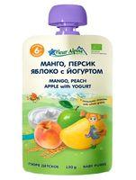 """Детское пюре Fleur Alpine Organic """"Манго, персик, яблоко с йогуртом"""" (120 г)"""