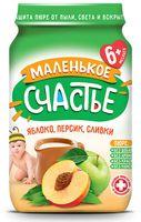 """Детское пюре Маленькое счастье """"Яблоко, персик, сливки"""" (180 г)"""