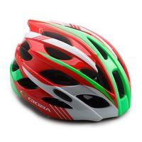 """Шлем велосипедный """"WT-016"""" (красный/зеленый/белый)"""