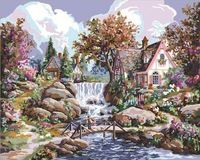 """Картина по номерам """"Водопад Ангела"""" (410х510 мм; арт. PLD-21743)"""