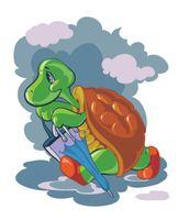 """Картина по номерам """"Черепаха с зонтиком"""" (300х400 мм)"""