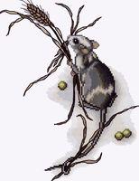 """Вышивка крестом """"Мышка"""""""