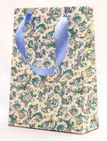 """Пакет бумажный подарочный """"Traditional"""" (23,5х17х7 см; синие элементы)"""