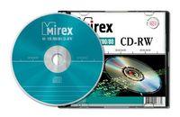Диск CD-RW 700Mb 12х Mirex slim (в упаковке 5 штук)
