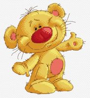 "Вышивка крестом ""Привет, Медвед"" (165х180 мм)"