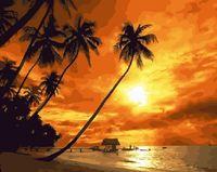 "Картина по номерам ""Закат на тропическом острове"" (400х500 мм)"