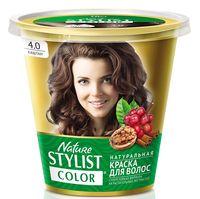 "Краска для волос ""Nature Stylist Color"" тон: 4.0, каштан"