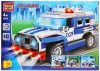 """Конструктор """"Полиция. Полицейская машина"""" (72 детали; со световыми и звуковыми эффектами)"""