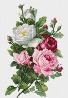 "Вышивка крестом ""Букет из роз"" (135х215 мм)"