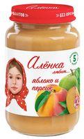 """Детское пюре """"Алёнка любит. Яблоко-персик"""" (170 г)"""