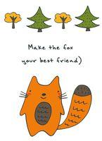 "Блокнот для записей ""Make the fox your best friend"" А6"