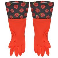 Перчатки кухонные с манжетой красные (арт. 29485)