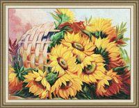 """Вышивка крестом """"Цветы солнца №2"""" (314х413 мм)"""