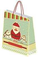 "Пакет бумажный подарочный ""Новогодний"" (20х27х9,8 см; арт. NY15-BG-3D-GL-2027)"