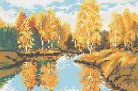 """Вышивка бисером """"Осеннее озеро"""""""