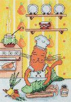 "Вышивка крестом ""Кот кулинар"""