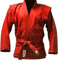 Куртка для самбо JS-302 (р. 2/150; красная)
