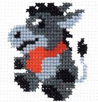 """Вышивка крестом """"Ослик"""" (60x70 мм)"""
