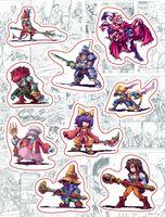 """Набор виниловых наклеек №148 """"Final Fantasy"""""""