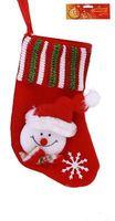 Носок новогодний текстильный (12 см; арт. 10015275)
