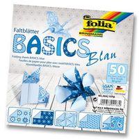 Бумага голубая для оригами (150х150 мм; 50 листов)