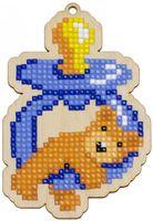 """Алмазная вышивка-мозаика """"Брелок. Мишка с соской"""" (72х106 мм)"""