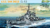 """Крейсер """"U.S.S. San Diego CL-53"""" (масштаб: 1/700)"""