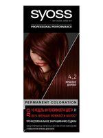 """Крем-краска для волос """"Syoss"""" тон: 4-2, красное дерево"""