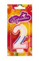 """Свеча для торта """"Цифра 2"""""""
